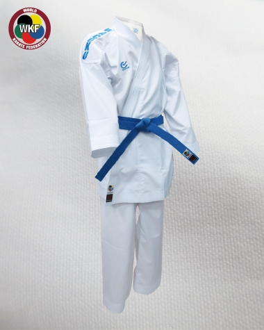 White Karate Martial Arts Uniform Size 5 with belt by Lions Karate